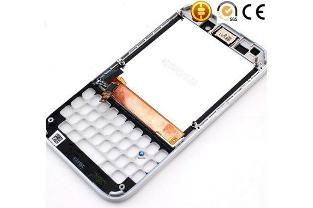 Lcd-жк-сенсорный дисплей-экран-стекло с тачскрином, передней панелью и клавиатурой на телефон blackberry q5 белый + гарантия