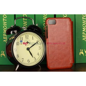 Чехол-книжка из качественной импортной кожи для blackberry z10 коричневый кожаный