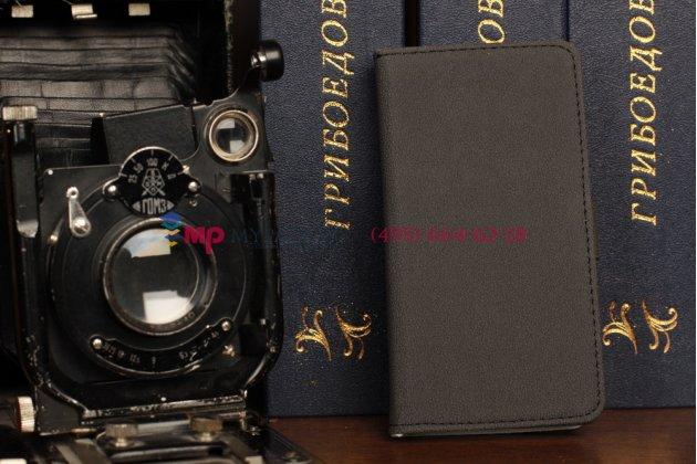 Чехол-книжка для blackberry z10 черный кожаный