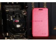 Фирменный чехол-книжка из качественной импортной кожи для Blackberry Z10 розовый кожаный..