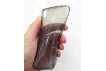 Ультра-тонкая полимерная из мягкого качественного силикона задняя панель-чехол-накладка с логотипом в фирменной упаковке для blackberry dtek50 серая