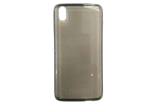 Ультра-тонкая полимерная из мягкого качественного силикона задняя панель-чехол-накладка с логотипом в упаковке для blackberry dtek50 серая