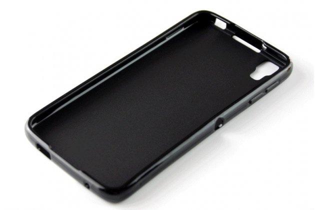 Ультра-тонкая полимерная из мягкого качественного силикона задняя панель-чехол-накладка для blackberry neon/ blackberry dtek50 черная