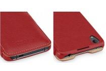 Умный премиальный элитный чехол-книжка из качественной импортной кожи с функцией засыпания для blackberry neon/ blackberry dtek50 красный