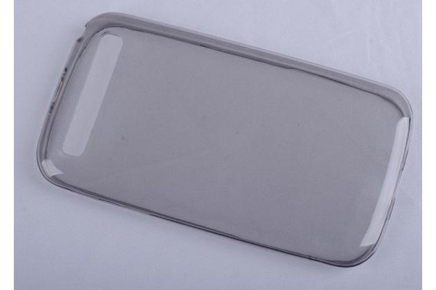Ультра-тонкая полимерная из мягкого качественного силикона задняя панель-чехол-накладка для blackberry q20 classic черный
