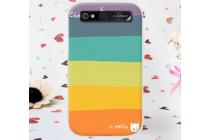 """Необычная из легчайшего и тончайшего пластика задняя панель-чехол-накладка для blackberry q20 classic  """"тематика все цвета радуги"""""""