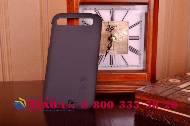Задняя панель-крышка-накладка из тончайшего и прочного пластика для blackberry q20 classic черная