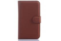 Чехол-книжка из качественной импортной кожи с мульти-подставкой застёжкой и визитницей для блэкберри кью20 классик коричневый