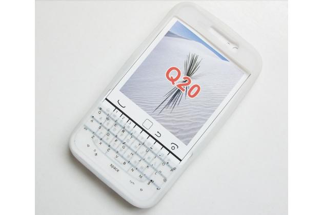 Силиконовый  чехол-пенал для blackberry q20 classic с 3d клавиатурой и защитой кнопок от пыли и воды белый