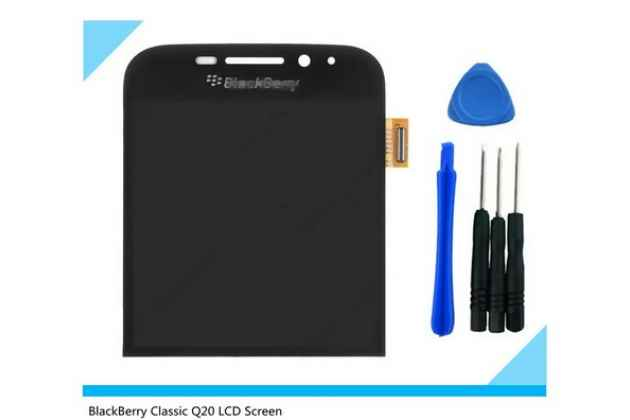 Lcd-жк-сенсорный дисплей-экран-стекло с тачскрином на телефон blackberry q20 classic черный + гарантия