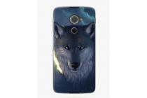 Необычная из мягкого и тонкого силикона задняя панель-чехол-накладка для blackberry dtek60 тематика волк