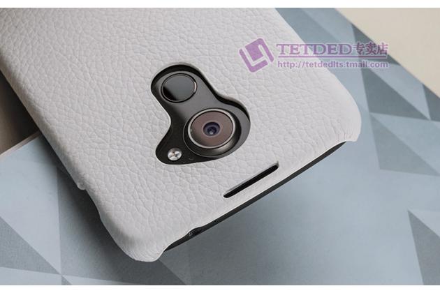Премиальная элитная крышка-накладка из тончайшего прочного пластика и качественной импортной кожи  для blackberry dtek60  белая