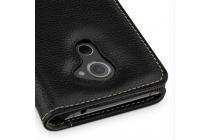 Умный премиальный элитный чехол-книжка с визитницей из качественной импортной кожи с функцией засыпания для blackberry dtek60 черный