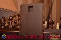 Премиальный чехол-книжка из качественной импортной кожи с мульти-подставкой застёжкой и визитницей для blackberry passport q30 из натуральной овечьей кожи коричневый