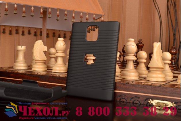 Противоударный усиленный ударопрочный чехол-бампер-пенал с клипсой на пояс для blackberry passport q30 черный