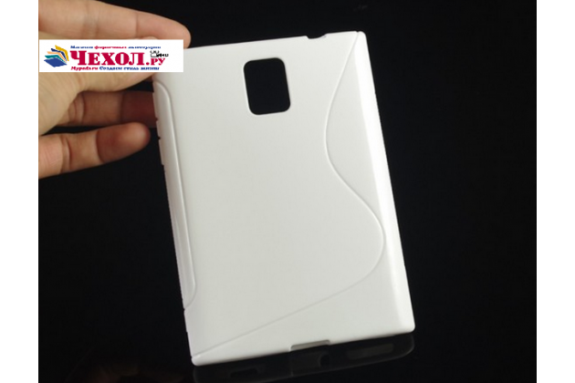 Ультра-тонкая полимерная из мягкого качественного силикона задняя панель-чехол-накладка для blackberry passport q30 белая