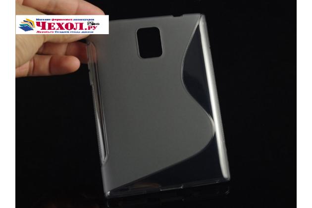 Ультра-тонкая полимерная из мягкого качественного силикона задняя панель-чехол-накладка для blackberry passport q30 серая