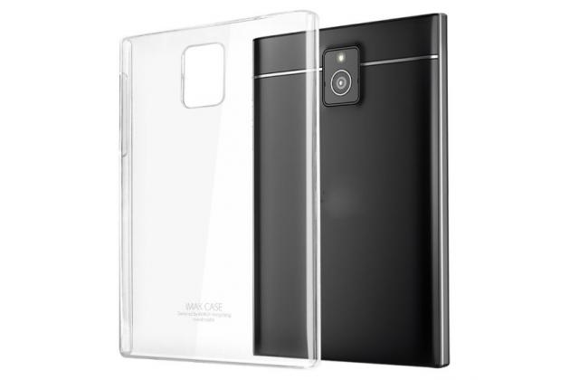 Задняя панель-крышка-накладка из тончайшего и прочного пластика для blackberry passport q30 прозрачная