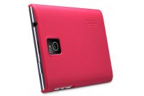Задняя панель-крышка-накладка из тончайшего и прочного пластика для blackberry passport q30 красная