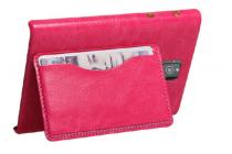 Роскошная элитная премиальная задняя панель-крышка с визитницей и мульти-подставкой обтянутая импортной кожей для blackberry passport q30 королевский розовый