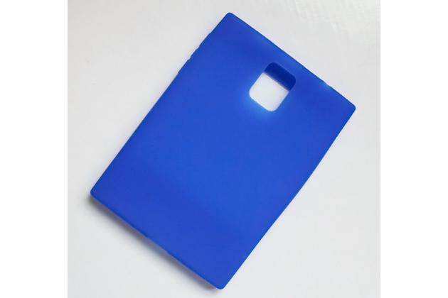 Силиконовый  чехол-пенал для blackberry passport q30 с 3d клавиатурой и защитой кнопок от пыли и воды синий