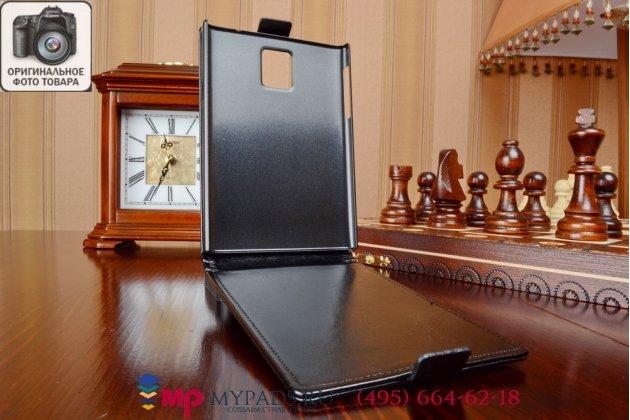 """Вертикальный откидной чехол-флип для blackberry passport q30 черный из качественной импортной кожи """"prestige"""" италия"""