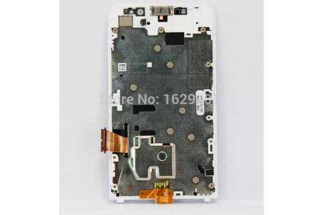 Lcd-жк-сенсорный дисплей-экран-стекло с тачскрином на телефон blackberry z30 белый + гарантия