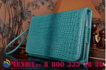 Фирменный роскошный эксклюзивный чехол-клатч/портмоне/сумочка/кошелек из лаковой кожи крокодила для планшетов Acer Iconia Tab A500/A501. Только в нашем магазине. Количество ограничено.