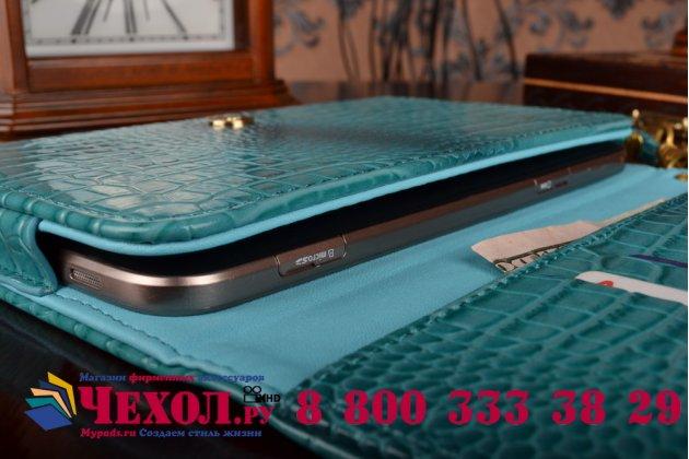 Роскошный эксклюзивный чехол-клатч/портмоне/сумочка/кошелек из лаковой кожи крокодила для планшетов lg g pad x 8.3 vk815. только в нашем магазине. количество ограничено.