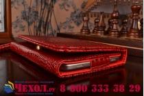 Фирменный роскошный эксклюзивный чехол-клатч/портмоне/сумочка/кошелек из лаковой кожи крокодила для планшетов Asus Fonepad 7 Dual Sim ME175CG. Только в нашем магазине. Количество ограничено.