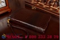 Роскошный эксклюзивный чехол-клатч/портмоне/сумочка/кошелек из лаковой кожи крокодила для планшетов asus padfone infinity. только в нашем магазине. количество ограничено.