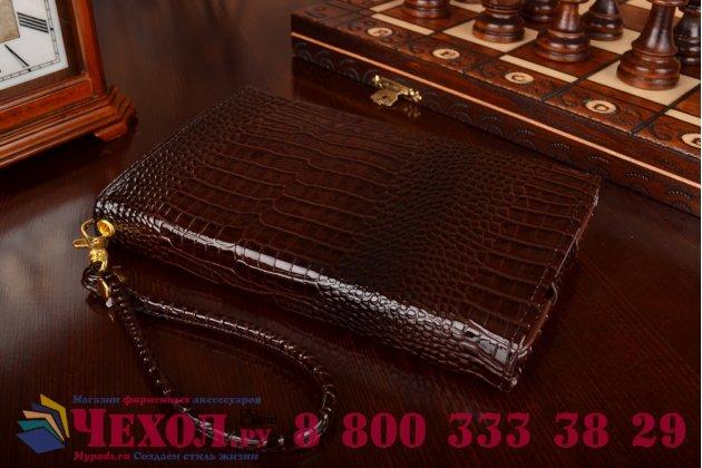 Роскошный эксклюзивный чехол-клатч/портмоне/сумочка/кошелек из лаковой кожи крокодила для планшетов lg optimus pad. только в нашем магазине. количество ограничено.