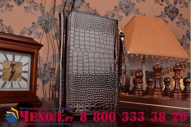 Роскошный эксклюзивный чехол-клатч/портмоне/сумочка/кошелек из лаковой кожи крокодила для планшетов acer iconia one 8 b1-810/b1-811. только в нашем магазине. количество ограничено.