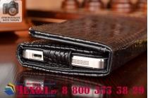Роскошный эксклюзивный чехол-клатч/портмоне/сумочка/кошелек из лаковой кожи крокодила для телефона fly iq4418 era style 4. только в нашем магазине. количество ограничено