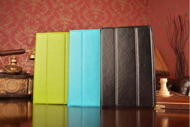 Чехол с вырезом под камеру для планшета lg g pad 10.1 v700 с дизайном smart cover ультратонкий и лёгкий. цвет в ассортименте