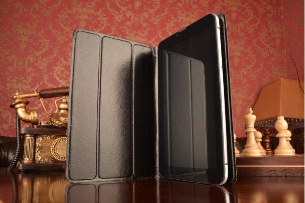 Чехол с вырезом под камеру для планшета asus zenpad s 8.0 z580ca/z580c с дизайном smart cover ультратонкий и лёгкий. цвет в ассортименте