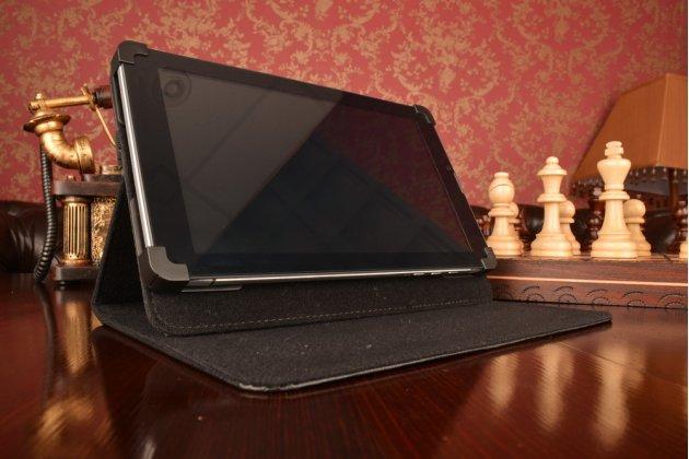 Чехол-обложка для планшета lg optimus pad с регулируемой подставкой и креплением на уголки