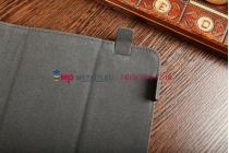 """Чехол-книжка для планшета с диагональю 7.0 дюймов черный натуральная кожа """"Deluxe"""" Италия"""