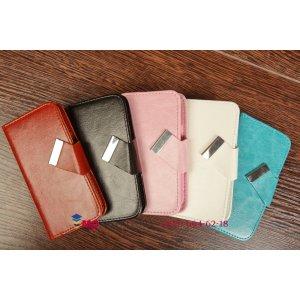 Чехол-книжка для HTC Butterfly X920d черный кожаный