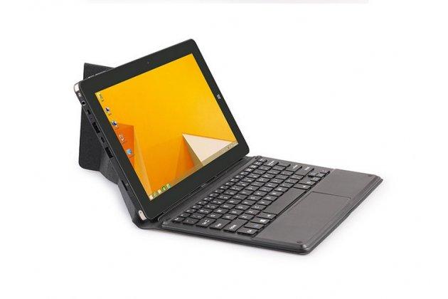 """Чехол со съёмной bluetooth-клавиатурой и тачпадом для chuwi vi10 10.6"""" черный кожаный + гарантия"""