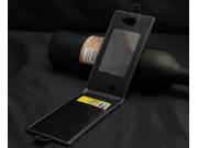 Фирменный оригинальный вертикальный откидной чехол-флип для DEXP Ixion X LTE 4.5 черный из натуральной кожи