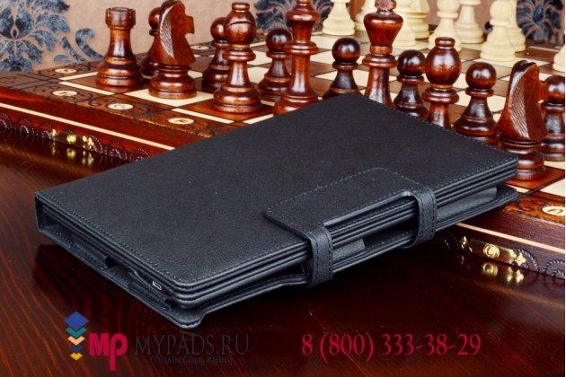 Чехол со съёмной bluetooth-клавиатурой для dell venue 8 7840 черный кожаный + гарантия