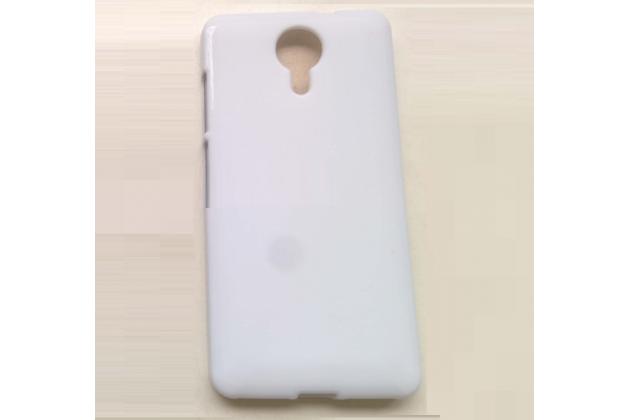 Ультра-тонкая полимерная из мягкого качественного силикона задняя панель-чехол-накладка для  fly wileyfox swift белая