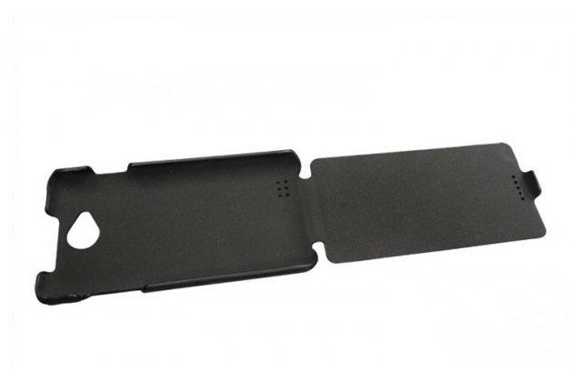 Вертикальный откидной чехол-флип для fly iq4418 era style 4 черный