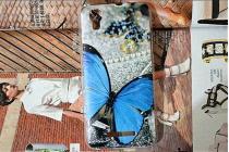 """Роскошная задняя панель-чехол-накладка с безумно красивым рисунком для fly iq4414 evo tech 3 quad """"тематика бабочка"""""""
