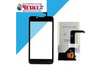 """Lcd-жк-экран-сенсорное стекло-тачскрин для телефона fly iq441 radiance"""" черный и инструменты для вскрытия + гарантия"""