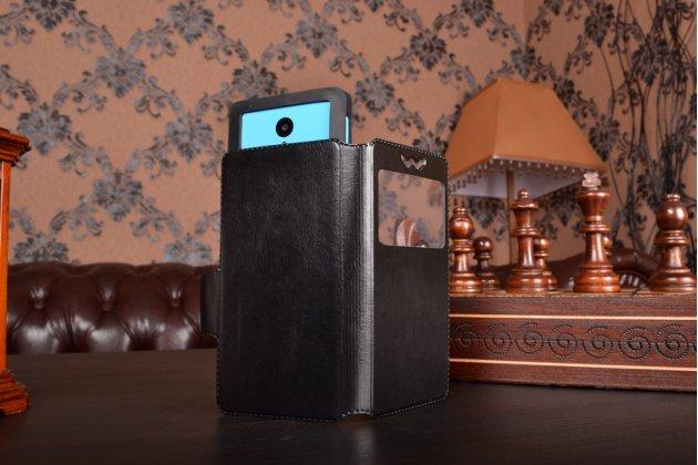 Чехол-книжка для acer liquid e3 e380 кожаный с окошком для вызовов и внутренним защитным силиконовым бампером. цвет в ассортименте
