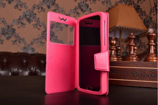 Чехол-книжка для nokia lumia 620 кожаный с окошком для вызовов и внутренним защитным силиконовым бампером. цвет в ассортименте