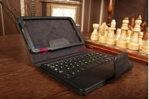 Фирменный чехол со съёмной Bluetooth-клавиатурой для Asus Google Nexus 7 2 покления 2013 черный кожаный + гарантия