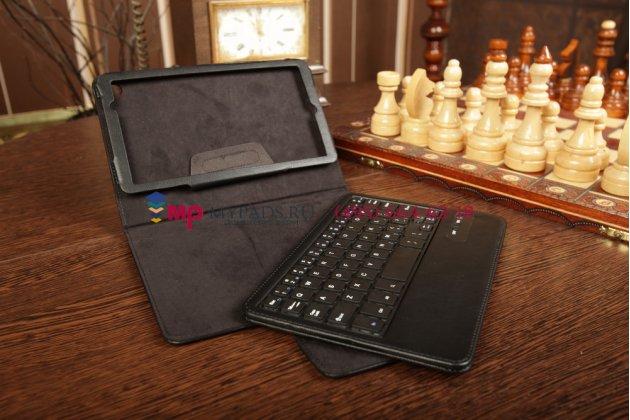 Чехол со съёмной bluetooth-клавиатурой для asus google nexus 7 2 покления 2013 черный кожаный + гарантия